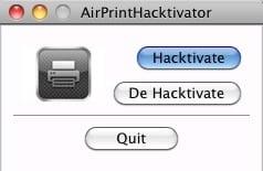 [가이드] Mac OS X 10.6.5 에서 AirPrint 기능 활성화, 1 Step HackTool