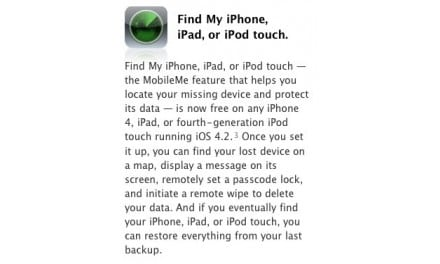 [i 노트] iOS 4.2 공식 배포 임박, Find My iPhone/iPad/iPod Touch 서비스 무료 전환