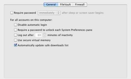 [Mac 노트] Mac OS X 보안 업데이트–사기/악성 코드로 부터의 보호