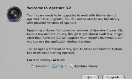 [Mac] 애플 Aperture 3.2 업데이트 요약
