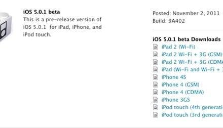 [iOS] iOS 5.0.1 업데이트, 배터리 문제 해결, 개발자 대상 베타 배포
