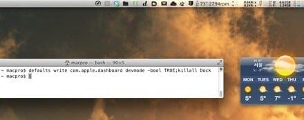 [Mac] OS X 데스크탑에서 위짓 계속 표시하기, 중급 사용자용 팁
