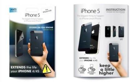 아이폰4/4S 를 아이폰5로 트랜스폼시켜 주는 스티커!