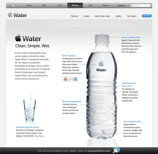 Apple water page