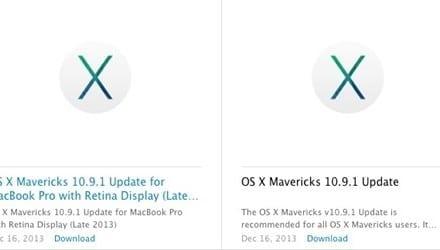 OS X 10.9.1 Mavericks 업데이트 요약
