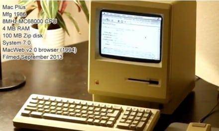 27년 된 구닥다리 Mac Plus (Mac 512k 케이스)로 인터넷 접속