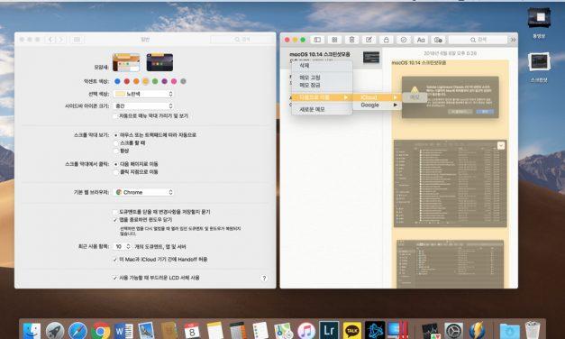 macOS 10.14 모하비의 확장된 UI 색상 모음
