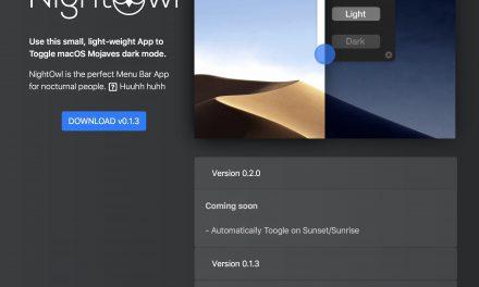 macOS 10.14 모하비 – 메뉴바에서 다크 모드 On/Off 전환 앱